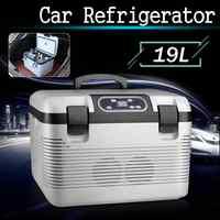 DC12-24V/AC220V refrigerador de coche, calefacción por congelación, compresor de nevera de 19L para el hogar, calefacción de refrigeración de Picnic-5 ~ 65 grados