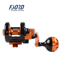 FJORD 8+2 Bearings Ball Left/Right Hand 6.0:Trolling All Metal Heavy Tow Drums Slow Rocking Iron Plate Release Sea Fishing Reel