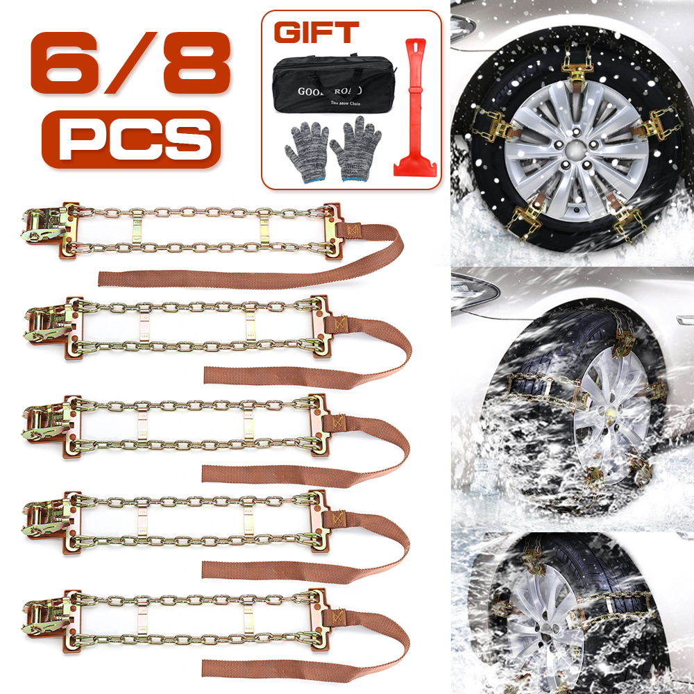 S/M/L Wear-resistant Steel Car Snow Chains Balance Design Anti-skid Chain For Ice/Snow/Mud Road Safe For Driving