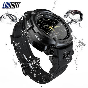 Image 2 - Lokmat smartwatch esporte pedômetro bluetooth 50m lembrete de informações à prova dwaterproof água digital relógio inteligente para ios e android