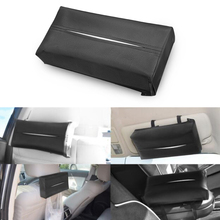 Universal Car Sun Visor Tissue Box Holder PU Leather Tissue Box Cover Case For Paper Auto Organizer Accessories biety am 13 multifunctional alligator pu leather car sunvisor sunshade tissue box case cd holder
