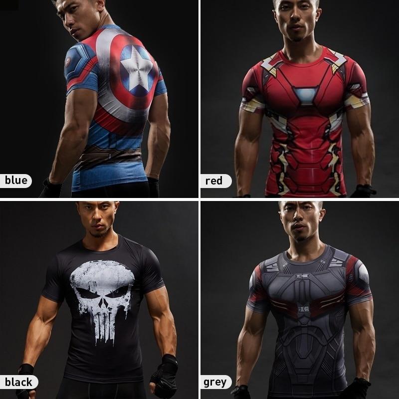 T-shirt dos Homens do Estilo Homens Gymtraining Camisas Dry Fit