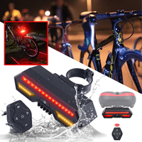 Bicycle Bike Rear Light Laser Tail Lamp LED Indicator Wireless Smart USB Rechargeable Cycling Accessories Remote Turn Signal led
