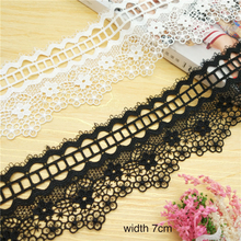 19yards 7cm white water soluble lace trim lace fabric lace ribbons dress skirt Clothing DIY decoration sewing lace accessories