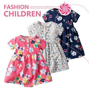 2019 New Arrival Toddler Kid Baby Girl Short Sleeve Floral Dress Princess Romper Dresses Clothes Dejo