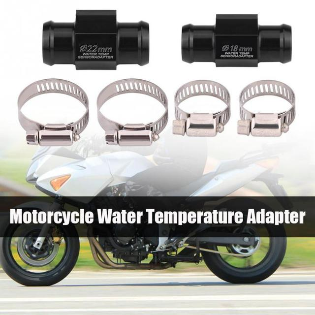 Universal 18mm 22mm Motorcycle Water Temp Temperature Joint Pipe Hose Sensor Gauge Adapter Temperature Sensor Adapter Black