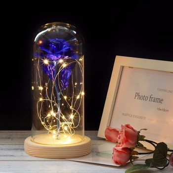 Medium Beauty and the Beast rose, Rose in glass dome, forever rose, red rose,special romantic gift Valentines Day Gift 2