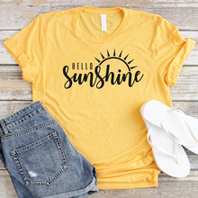 0edb353feb4df6 Sun Shirt Hello Sunshine Shirt Women Yellow T-Shirt Cotton Graphic Tees  Plus Size Tshirt