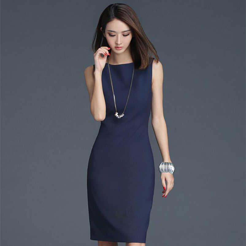 f0ed16a01c9 Soperwillton 2019 Элегантный деловая модельная одежда летние платья для женщин  одежда O-Neck для работы