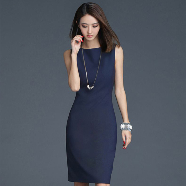 45a6e289d6a Soperwillton 2019 Elegant Office Dress Summer Dresses Women O-neck Wear to  Work clothes Bodycon Dress Lady Work vestidos  BD728