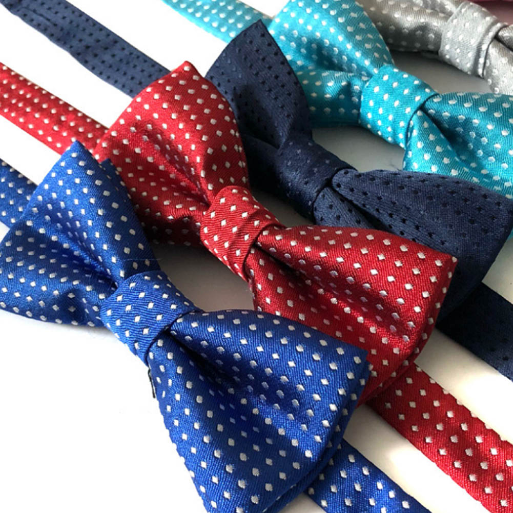 Cute Polka Dot Bow Ties For Cool Kids Boys Slim Skinny Butterfly Bowtie Tuxedo Neck Ties For Party Pet Show Neckwear Corbatas