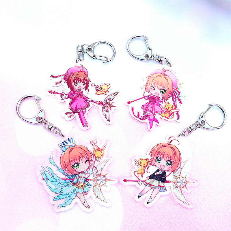 Fashion Anime Card Captor Sakura Key Chains Holder Li Syaoran TOUYA Pendant Keychains Keyrings Pendant Jewelry Car Accessories