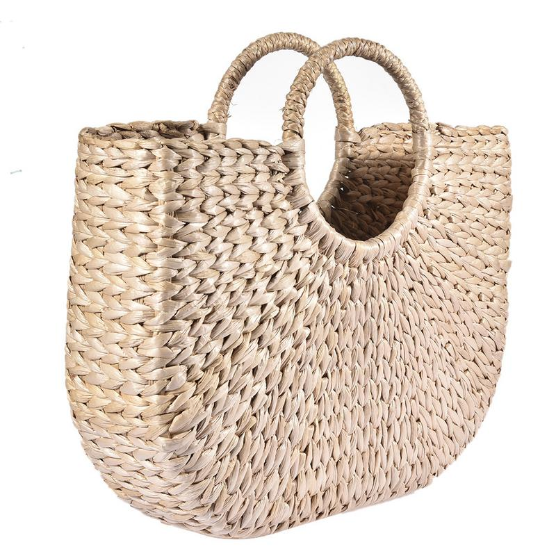 6Pcs Bamboo Purse Handbag Handles Replacement for Handmade Bag Beach Bag Handbags Straw Bag Purse Handles