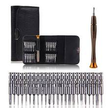 25 in 1 Een Set Precisie Schroevendraaier Portemonnee Pocket Handig Reparatie Tools voor Elektronica PC Laptop(China)