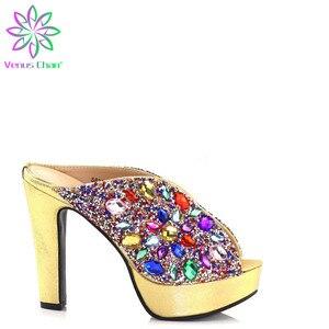 Новые Элегантные женские туфли золотого цвета без сумочки в комплекте, комплект из комфортного материала для вечеринки в нигерийском стиле...
