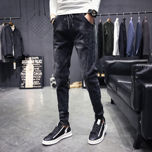 Spring And Autumn New Youth Hop Hip Men Jeans Mens Trend Casual Fashion Plus Fertilizer XL Tight Country Tide Recommend