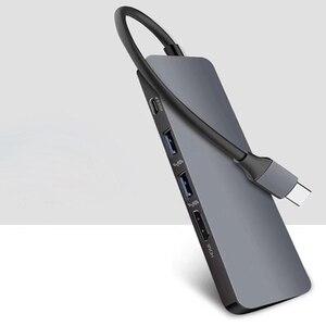 Image 5 - 5 In 1 Usb Type C Hub Hdmi 4K Usb C Hub Naar Gigabit Ethernet Rj45 Lan Adapter Voor macbook Pro Thunderbolt 3 USB C Charger Port