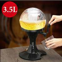 3.5L Beer Dispenser Machine Drinking Vessels Transparent Layer Design Gas Station Bar Ice Core Beer Kitchen Drinking Wine Party