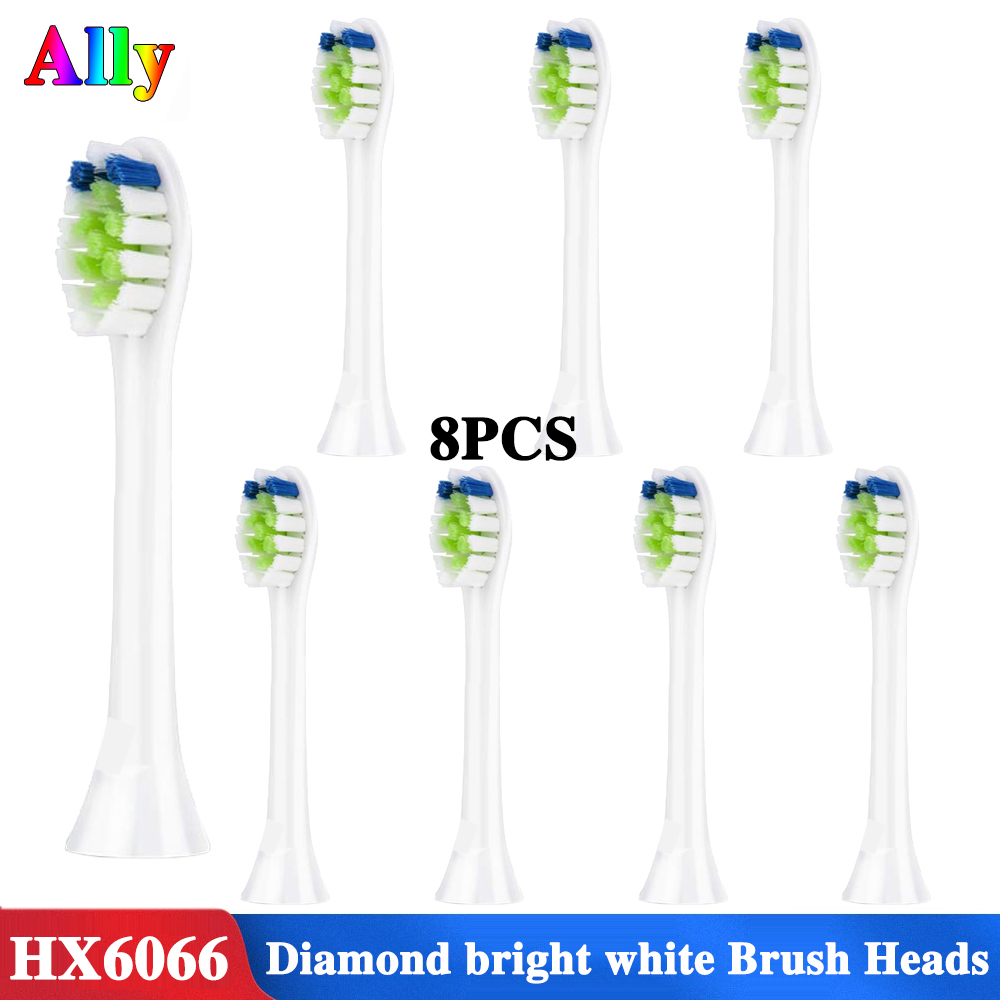 8PCS HX6064 Replacement Brush Heads for Sonicare DiamondClean Toothbrush fit Philips Sonicare Electric Toothbrush image