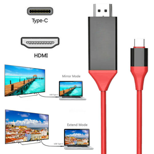 Type C to HDMI HD Mirror Adapter Cable with Andriod USB AV Cable