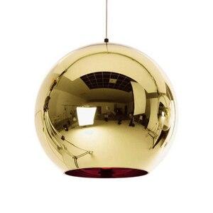 Image 5 - Coquimbo küre kolye ışıkları bakır cam ayna topu asılı lamba mutfak Modern aydınlatma armatürleri asılı ışık