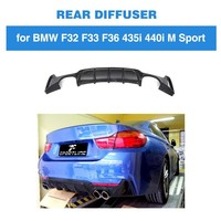 Rear Diffuser For BMW F32 F33 4 Series M Sport Only 2014 2017 435i 420i Cabriolet Four Outlet ABS Black Bumper Lip Spoiler