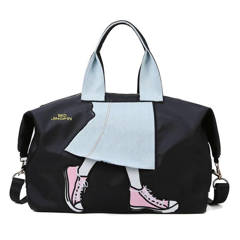 Imperméable à l'eau et anti-rayure Oxford voyage sac femmes bolso mujer grande emballage cubes sacs de voyage sac de voyage bagages à main sac