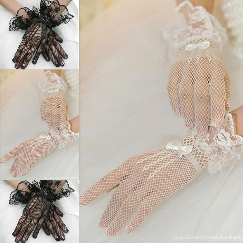 Hot Sale Women Ladies Fashion Casual Gloves Evening Party Prom Driving Costume Solid Lace Gloves NEW