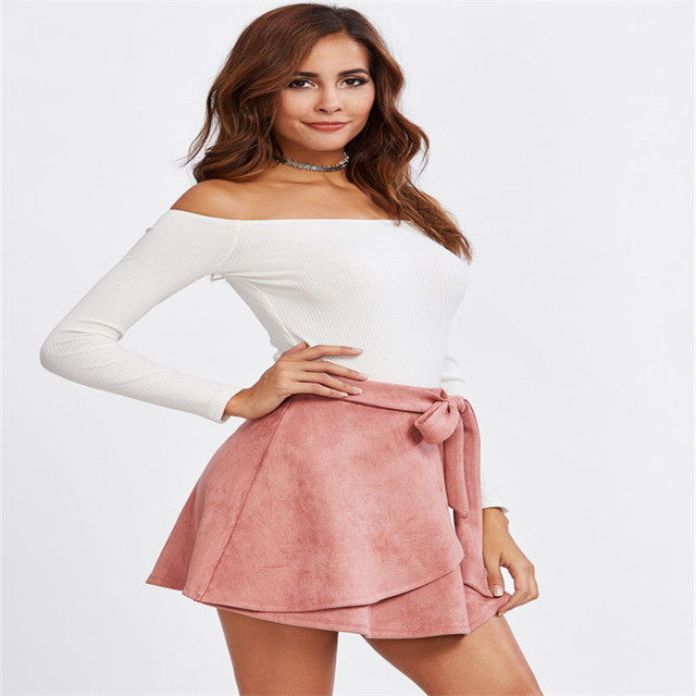 3f06efc44 SVOKOR nueva falda Sexy estilo verano 2019 para chica señora coreana corta  Skater moda mujer Mini Falda Mujer ropa fondos