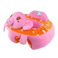 Nursing Cushion and Learn Sitting Padding Cotton Harness for Baby Newborn Baby Pink Velvet 50x50x29cm