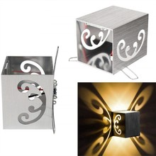 Indoor led wall light 3W butterflys aluminum sconce Modern home decorate Recessed lamp