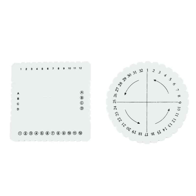 2 adet Yuvarlak Kare Disk Makrome örgülü kordon Dize Bilezik El Yapımı Dokuma Disk Plakası DIY Tezgah Malzemeleri Dikiş Araçları