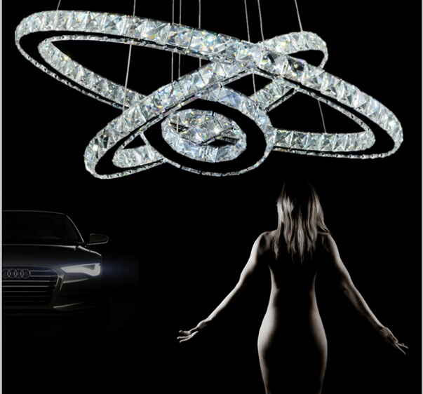 Modern 3 Ring Combination Crystal Pendant Lights Led Lamps Modern K9 Crystal Lamp Led Lustre Light Free Shipping 30cm 50cm 70cmModern 3 Ring Combination Crystal Pendant Lights Led Lamps Modern K9 Crystal Lamp Led Lustre Light Free Shipping 30cm 50cm 70cm