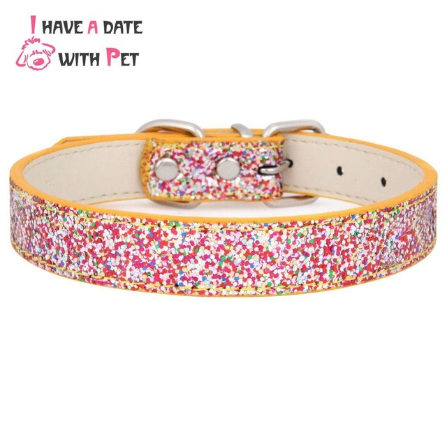 Accessori del cane di Bling di Cuoio Dell'animale Domestico Del Collare di Cane
