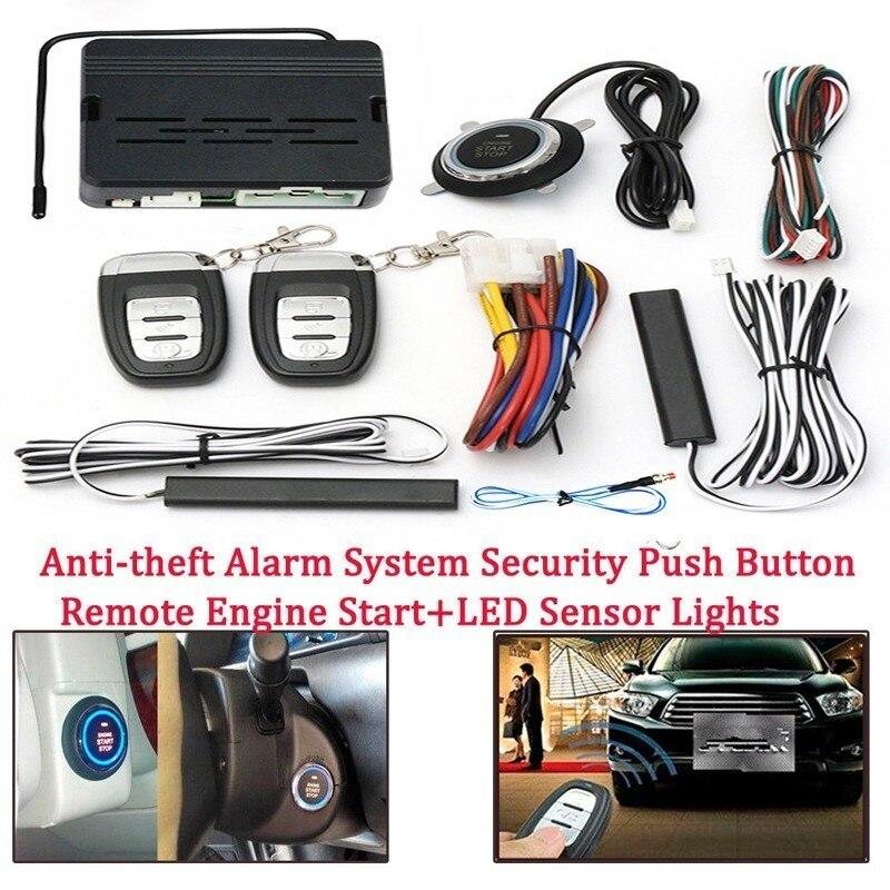 12 V voiture télécommande Kit bouton poussoir démarrage voiture alarme démarrage système de sécurité clé moteur démarrage bouton poussoir Kit à distance