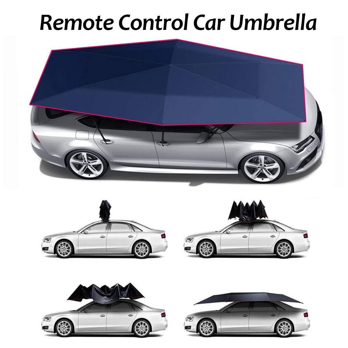 Bâche de voiture automatique tente Portable pliante parapluie toit parasol Protection solaire UV télécommande imperméable bâches de voiture tente