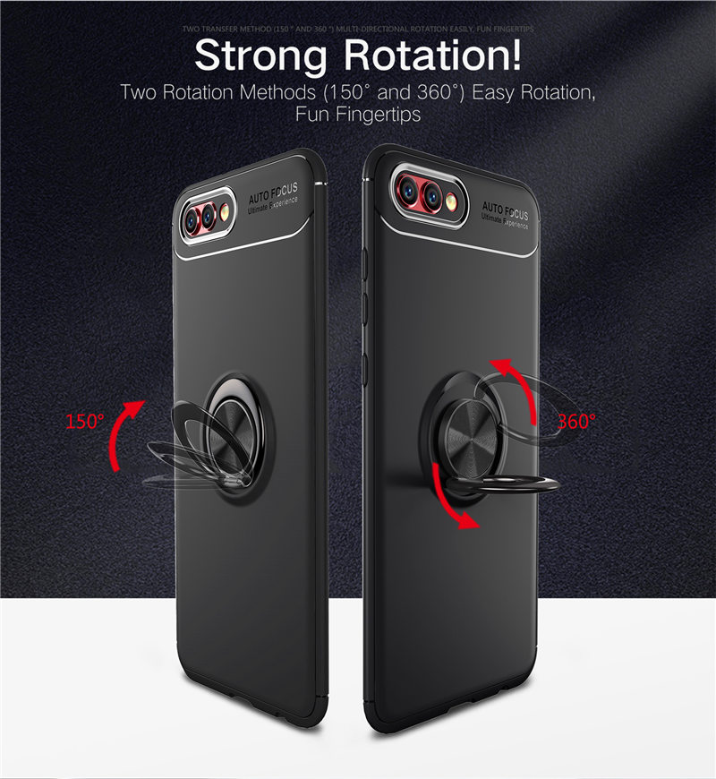 Huawei Honor V10 Case View 10 Car Holder Stand Magnetic Bracket Finger Ring Silicone TPU Case For Huawei Honor V10 Coque Capa image