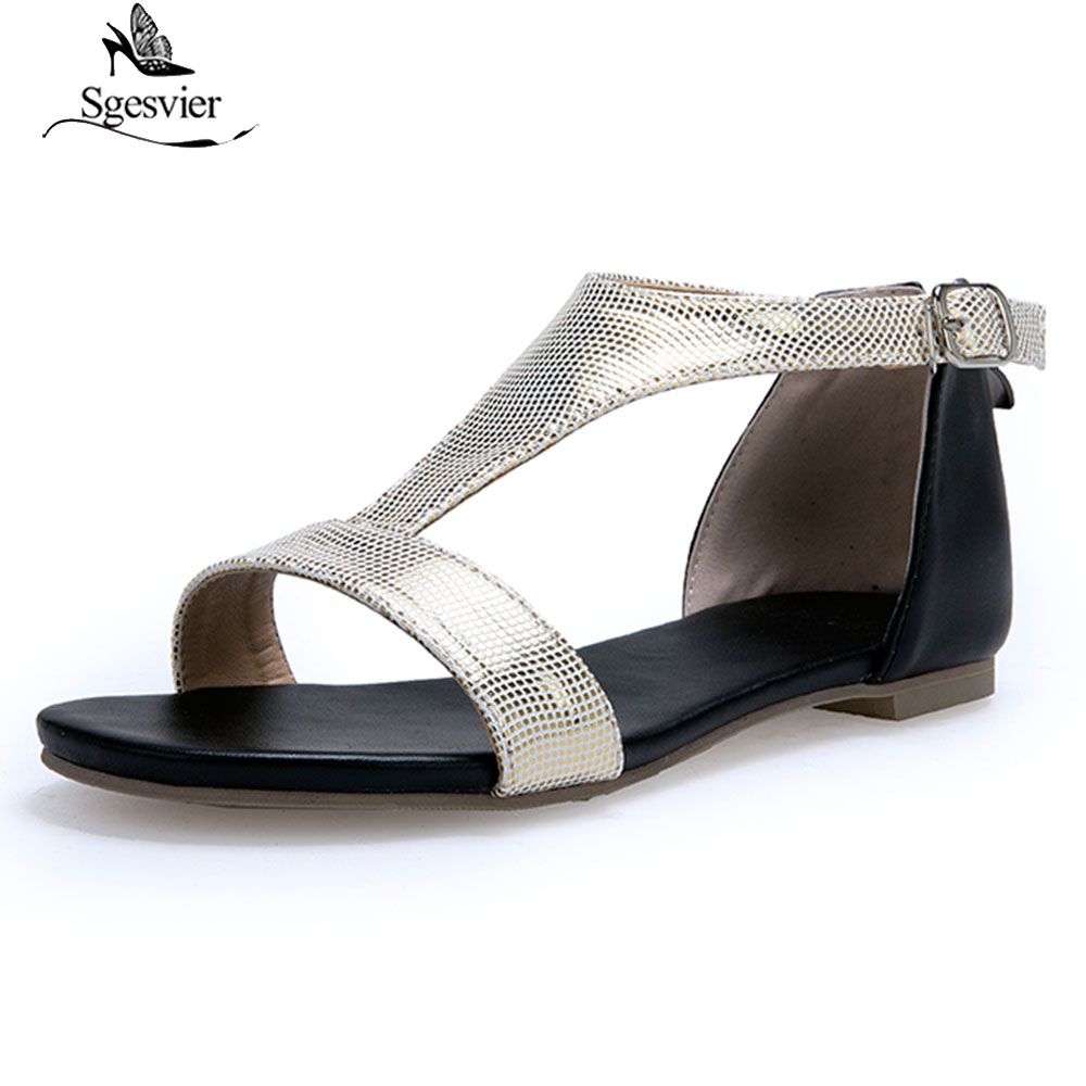 Sgesvier 2019 Summer Shoes Women Sandals Ladies Shoes Open Toe Breathable Beach Buckle Strap Sandals Rome Casual Flat FemininaSgesvier 2019 Summer Shoes Women Sandals Ladies Shoes Open Toe Breathable Beach Buckle Strap Sandals Rome Casual Flat Feminina