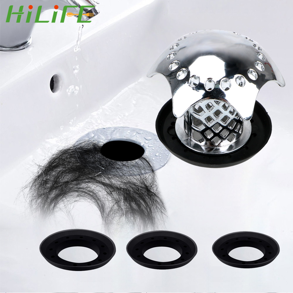 HILIFE Bath Plug Shower Drain Hair Catcher Sink Filter Prevents Hair From Clogging Shower Sink Drain Cover Gadgets