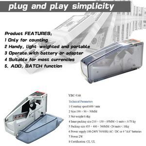 Image 5 - VKTECH Portable Mini Handy Money Counter for Most Currency Note Bill Cash Counting Machine EU V40 Financial Equipment EU Plug