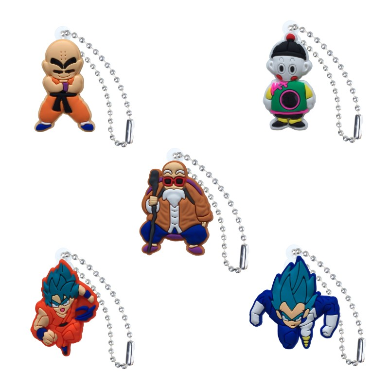 New 1pcs Dragon Ball Anime Ball Chain Action Figure Keychain Key Accessories Cover Cap Key Ring Kids DIY Toys Party Gift