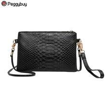 New Alligator Mini PU Leather shoulder bag Women Clutch Satc