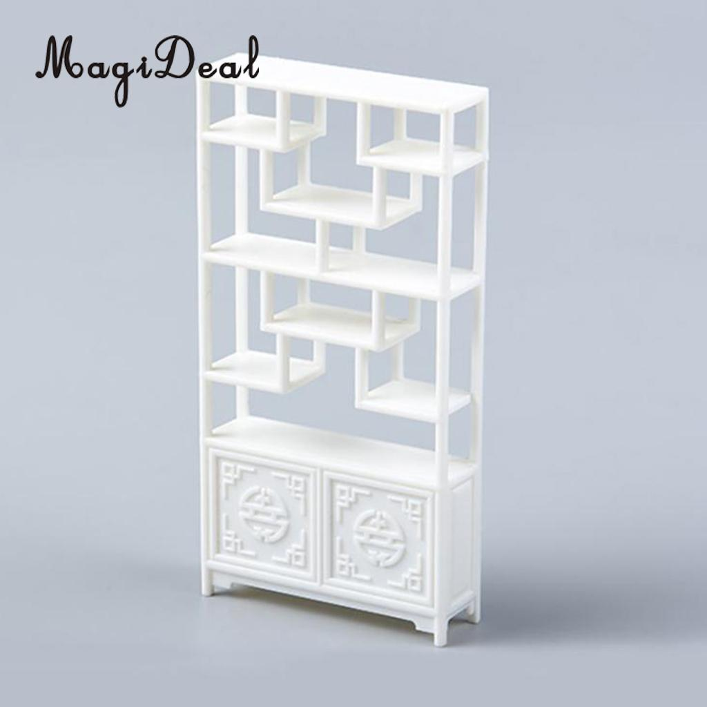 MagiDeal 1/25 China Style Shelf DIY Assembly Furniture Model Miniature Scenery For Scene Building Prop Children Kids Toy