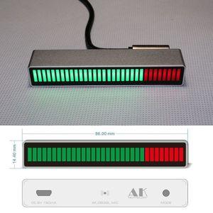 Image 1 - ควบคุมเสียงโมโน 30 บิตระดับตัวบ่งชี้LED VU Meterเครื่องขยายเสียงโคมไฟMicro USBความเร็วสูงสำหรับรถMP3