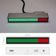 Controle de som mono 30 bit indicador de nível led vu medidor placa amplificador lâmpadas velocidade da luz micro usb power para carro mp3