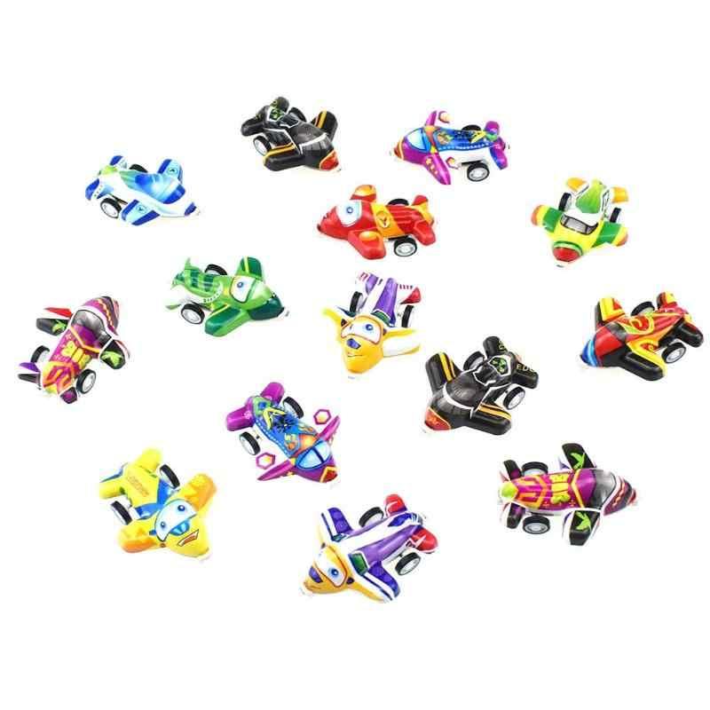 Soft PVC Dos Desenhos Animados Pull Back Poder Mini Conjunto de Brinquedo Avião Modelo de Avião de Presente de Aniversário Brinquedos Educativos para Crianças Miúdo aleatória cor