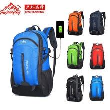 Backpack 40 Liters Hiking Backpack With USB Charging Port Waterproof Nylon Backpacks Woman 2018 Climbing Bag Travel Backpack Men цена 2017