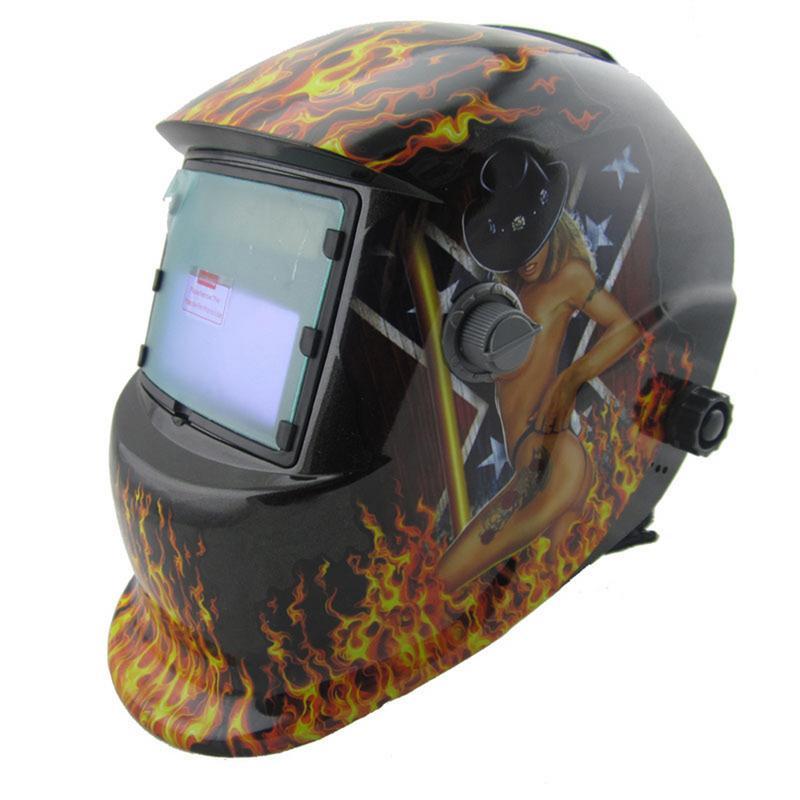 Casco Visor Solar de soldadura de barnizado máscara lente de repuesto la montado atenuación automática característica TX600AF