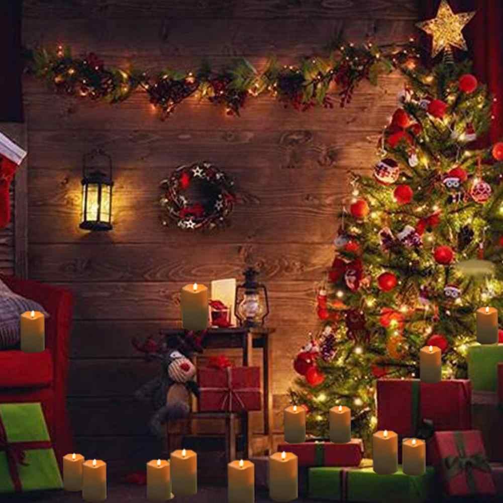 3 шт./компл. свеча с искусственным пламенем лампы с дистанционным Управление теплый желтый фары ночные огни дома вечерние День рождения украшения