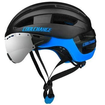 Fietshelm Road Mountain Bike Fiets Helm Met Bril Bike Fietshelm 16 Afleiding Gaten Casco Ciclismo